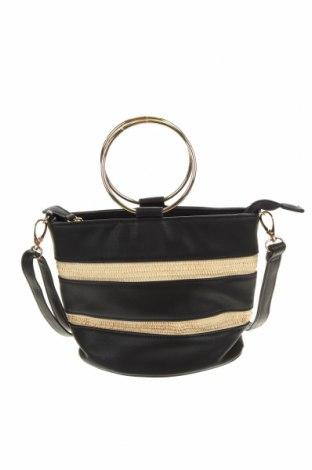 Дамска чанта Laura Jones, Цвят Черен, Еко кожа, Цена 24,57лв.