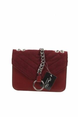Дамска чанта Miss Shop, Цвят Червен, Текстил, еко кожа, Цена 32,29лв.