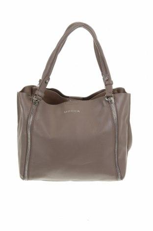 Дамска чанта Mocha, Цвят Сив, Еко кожа, Цена 94,76лв.