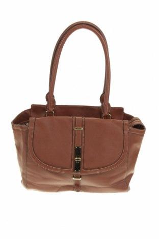 Дамска чанта Nine West, Цвят Кафяв, Еко кожа, Цена 36,38лв.