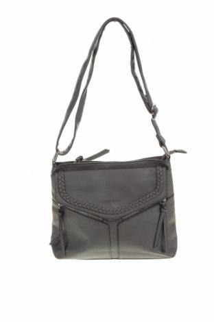 Дамска чанта Rivers, Цвят Сив, Еко кожа, Цена 26,93лв.