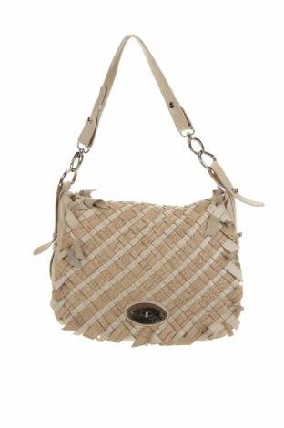 Γυναικεία τσάντα Uterque, Χρώμα  Μπέζ, Γνήσιο δέρμα, Τιμή 36,65€