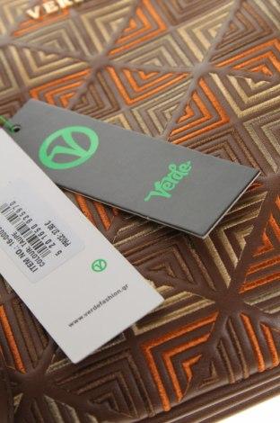 Дамска чанта Verde, Цвят Кафяв, Еко кожа, Цена 51,75лв.