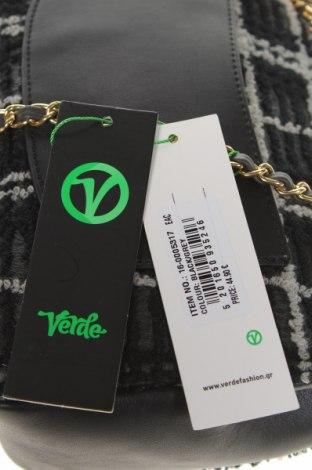 Дамска чанта Verde, Цвят Черен, Текстил, еко кожа, Цена 30,02лв.