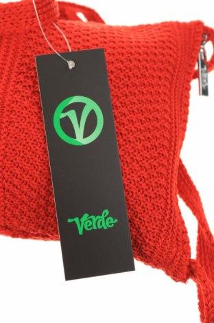 Дамска чанта Verde, Цвят Червен, Текстил, Цена 12,42лв.