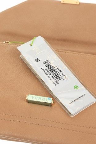 Дамска чанта Verde, Цвят Бежов, Еко кожа, Цена 11,44лв.