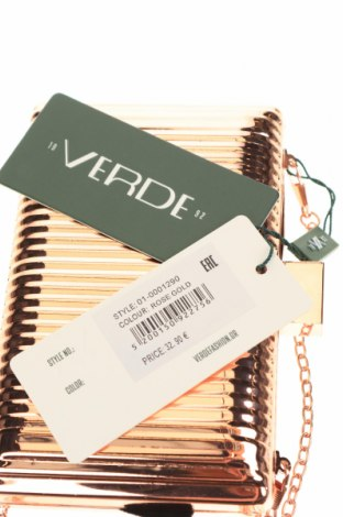 Дамска чанта Verde, Цвят Розов, Метал, Цена 44,25лв.