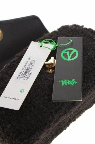 Дамска чанта Verde, Цвят Черен, Текстил, еко кожа, Цена 44,25лв.