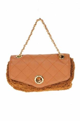 Дамска чанта Verde, Цвят Кафяв, Текстил, еко кожа, Цена 6,23лв.