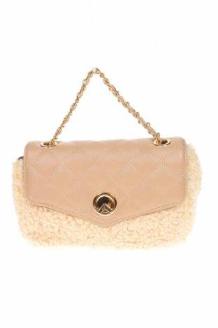 Дамска чанта Verde, Цвят Розов, Текстил, еко кожа, Цена 13,57лв.