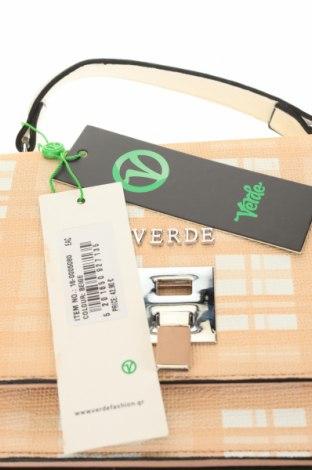 Дамска чанта Verde, Цвят Бежов, Еко кожа, Цена 33,97лв.