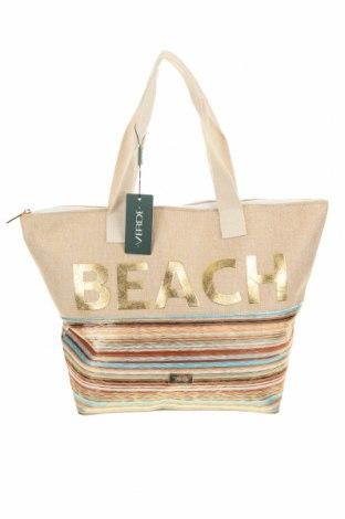 Τσάντα Verde, Χρώμα  Μπέζ, Κλωστοϋφαντουργικά προϊόντα, Τιμή 18,85€