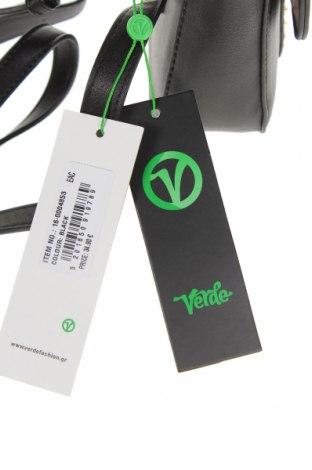 Дамска чанта Verde, Цвят Черен, Еко кожа, Цена 14,16лв.