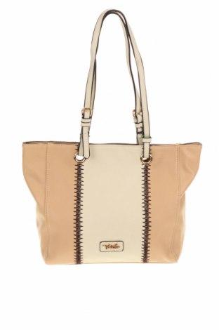 Γυναικεία τσάντα Verde, Χρώμα  Μπέζ, Δερματίνη, Τιμή 15,21€