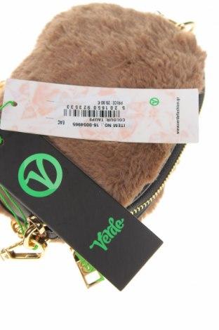 Дамска чанта Verde, Цвят Кафяв, Текстил, Цена 18,62лв.