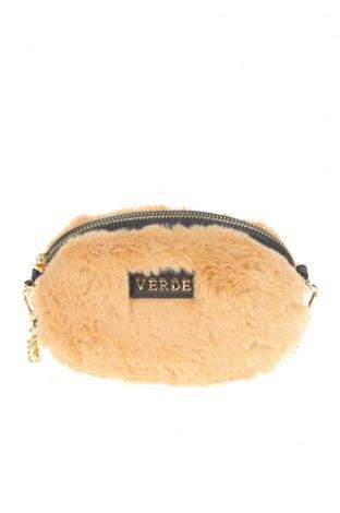 Γυναικεία τσάντα Verde, Χρώμα  Μπέζ, Κλωστοϋφαντουργικά προϊόντα, Τιμή 12,12€