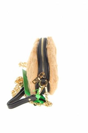 Дамска чанта Verde, Цвят Бежов, Текстил, Цена 21,07лв.