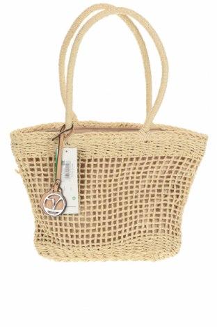Дамска чанта Verde, Цвят Бежов, Други тъкани, Цена 22,42лв.