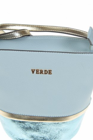Дамска чанта Verde, Цвят Син, Еко кожа, Цена 14,80лв.