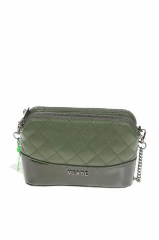 Γυναικεία τσάντα Verde, Χρώμα Πράσινο, Δερματίνη, Τιμή 16,12€
