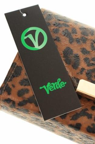 Дамска чанта Verde, Цвят Кафяв, Еко кожа, Цена 11,27лв.
