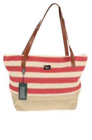 Γυναικεία τσάντα Verde, Χρώμα  Μπέζ, Κλωστοϋφαντουργικά προϊόντα, δερματίνη, Τιμή 17,07€