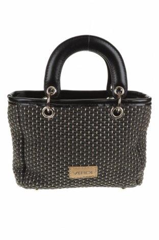 Дамска чанта Verde, Цвят Черен, Други материали, еко кожа, Цена 28,60лв.