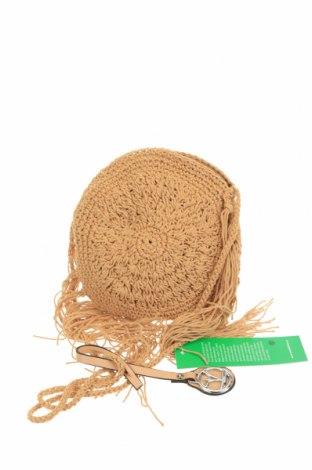 Дамска чанта Verde, Цвят Бежов, Текстил, Цена 8,85лв.