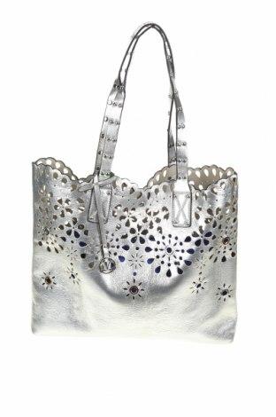 Дамска чанта Verde, Цвят Сребрист, Еко кожа, Цена 48,95лв.