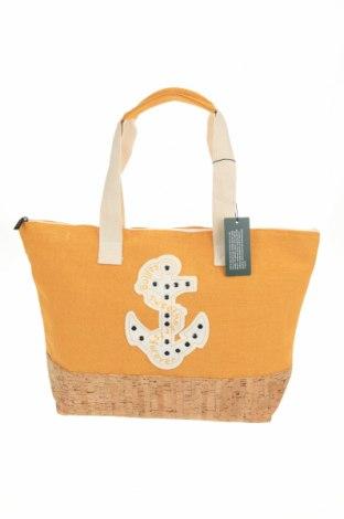 Τσάντα Verde, Χρώμα Κίτρινο, Κλωστοϋφαντουργικά προϊόντα, άλλα υφάσματα, Τιμή 17,79€