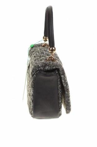 Дамска чанта Verde, Цвят Сив, Текстил, еко кожа, Цена 31,60лв.