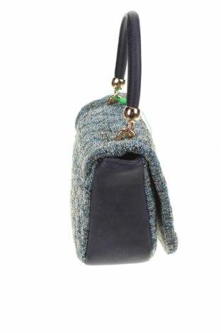Дамска чанта Verde, Цвят Син, Текстил, еко кожа, Цена 15,80лв.
