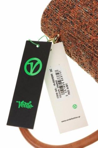 Дамска чанта Verde, Цвят Кафяв, Текстил, еко кожа, Цена 15,80лв.
