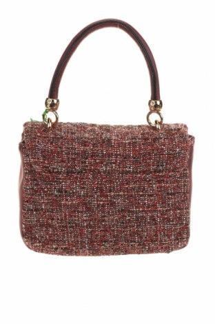 Дамска чанта Verde, Цвят Червен, Текстил, еко кожа, Цена 15,80лв.
