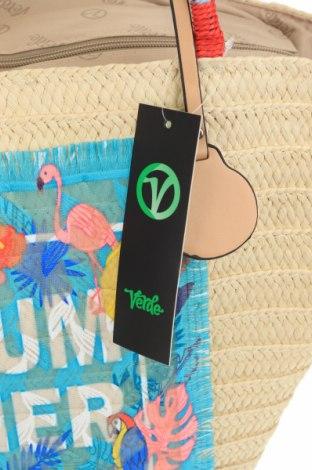 Чанта Verde, Цвят Екрю, Други тъкани, Цена 59,25лв.