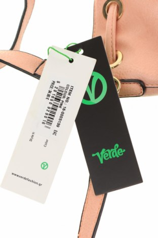 Дамска чанта Verde, Цвят Розов, Еко кожа, Цена 17,36лв.