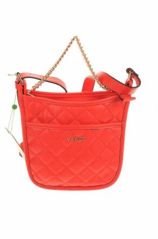 Γυναικεία τσάντα Verde, Χρώμα Κόκκινο, Δερματίνη, Τιμή 8,21€