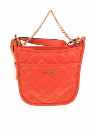 Дамска чанта Verde, Цвят Оранжев, Еко кожа, Цена 14,23лв.