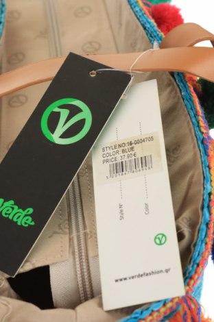 Чанта Verde, Цвят Син, Други тъкани, еко кожа, Цена 29,50лв.