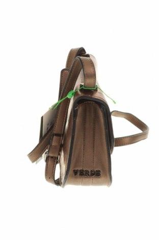 Дамска чанта Verde, Цвят Кафяв, Еко кожа, Цена 14,26лв.