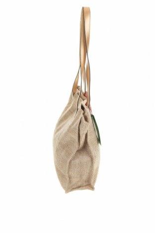 Чанта Verde, Цвят Бежов, Други тъкани, еко кожа, Цена 42,00лв.