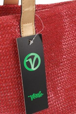 Чанта Verde, Цвят Червен, Други тъкани, еко кожа, Цена 21,28лв.
