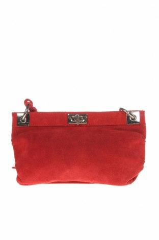Γυναικεία τσάντα Zara, Χρώμα Κόκκινο, Φυσικό σουέτ, Τιμή 19,49€