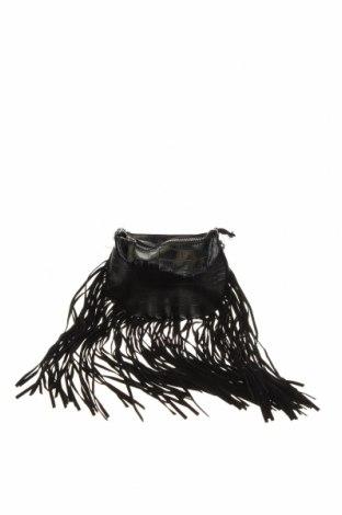 Дамска чанта Zara Trafaluc, Цвят Черен, Еко кожа, текстил, Цена 36,00лв.