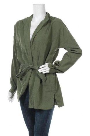 Дамска жилетка, Размер XL, Цвят Зелен, 75% полиестер, 25% полиамид, Цена 20,53лв.