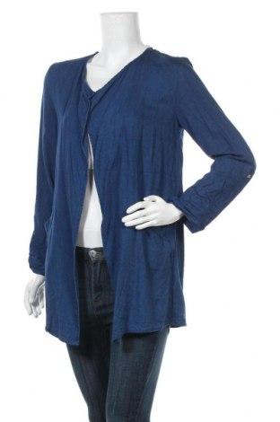 Дамска жилетка H&M, Размер L, Цвят Син, 70% вискоза, 30% лиосел, Цена 6,83лв.