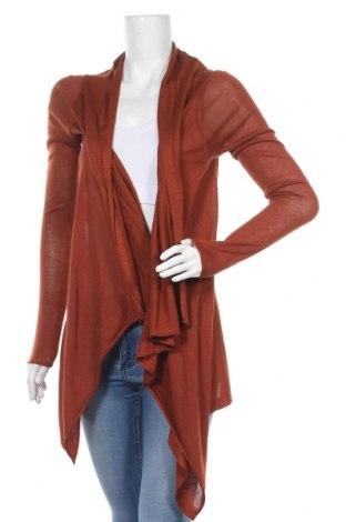 Дамска жилетка H&M, Размер XS, Цвят Кафяв, 50% акрил, 50% вискоза, Цена 14,85лв.