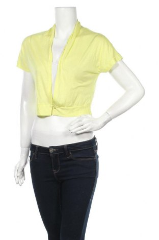 Дамска жилетка Sandwich_, Размер S, Цвят Жълт, 50% памук, 50% модал, Цена 13,23лв.