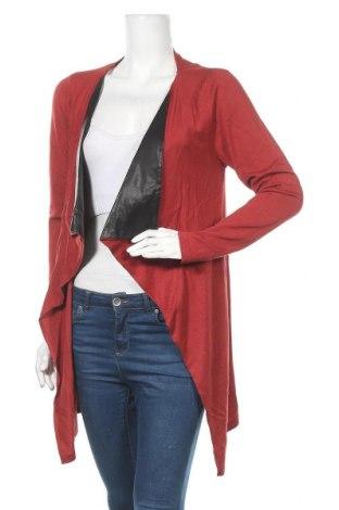 Дамска жилетка Venca, Размер XL, Цвят Червен, 70% вискоза, 30% полиамид, еко кожа, Цена 26,52лв.