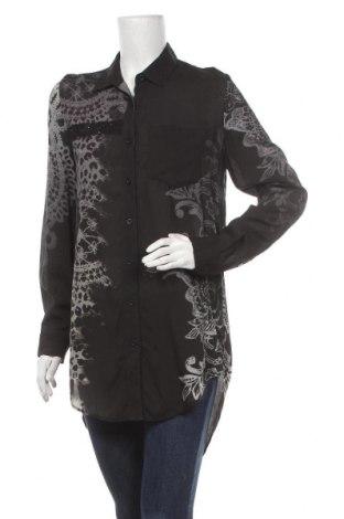Γυναικείο πουκάμισο Desigual, Μέγεθος S, Χρώμα Μαύρο, Βισκόζη, Τιμή 30,67€